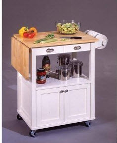 White -Kitchen -Cart