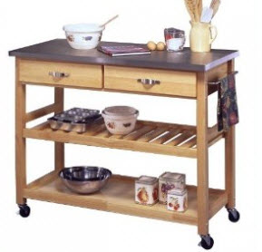 Best-Kitchen-Carts-on- Wheels-Homestyles -Stainless -Steel -Top